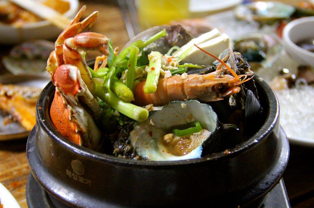 Seafood Stew, 혀재해녀의집 (Hyeopjae Haenyeo House), Jeju Island, South Korea