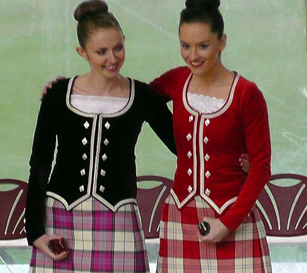 Marielle and Chantal at the World Championships, 2014