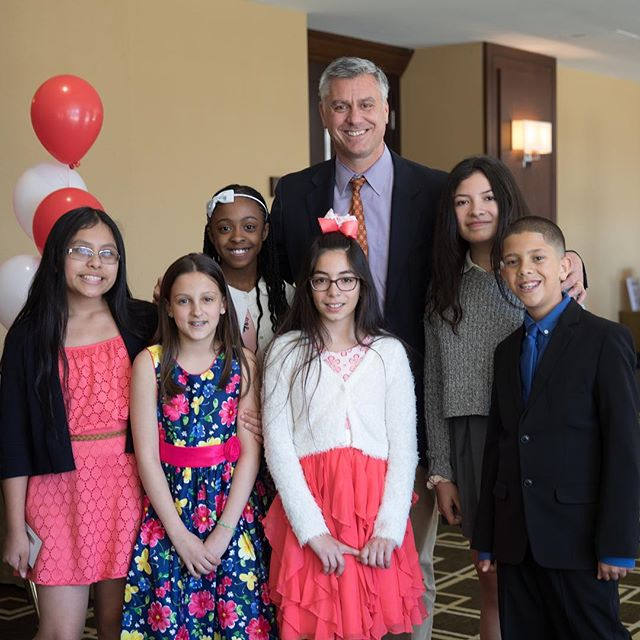 Congrats to all the @reach_prep graduates -- especially our new GCDS Tigers! (pictured with Mr. Rohdie and students from #RPCohort23 and #RPCohort21 at the REACH luncheon this spring!)