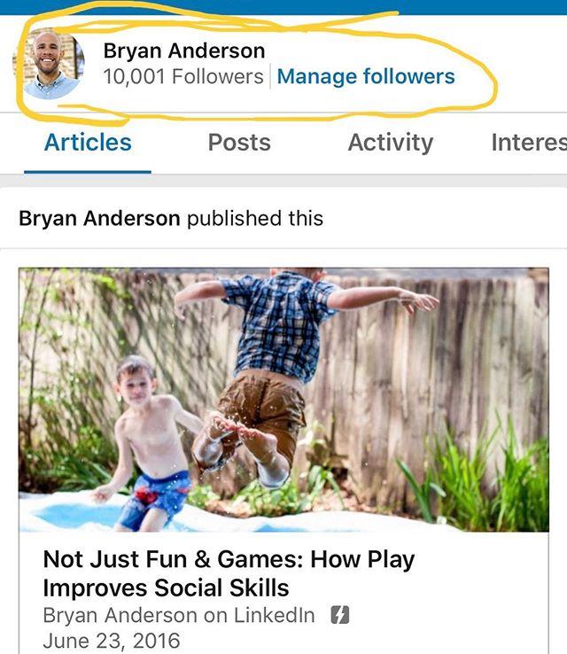 Just reached 10K followers on LinkedIn!