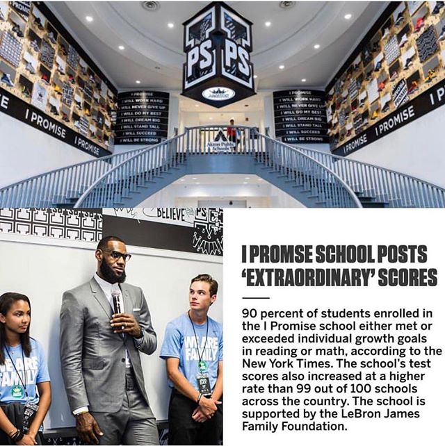 @kingjames and @ipromiseschool are doing something remarkable.  One day soon I will be reaching out to propose a collaboration with @grabthewheelkids and @myeqfamily to help provide social emotional learning to the kids of Akron! #emotionalintelligence #education #akron