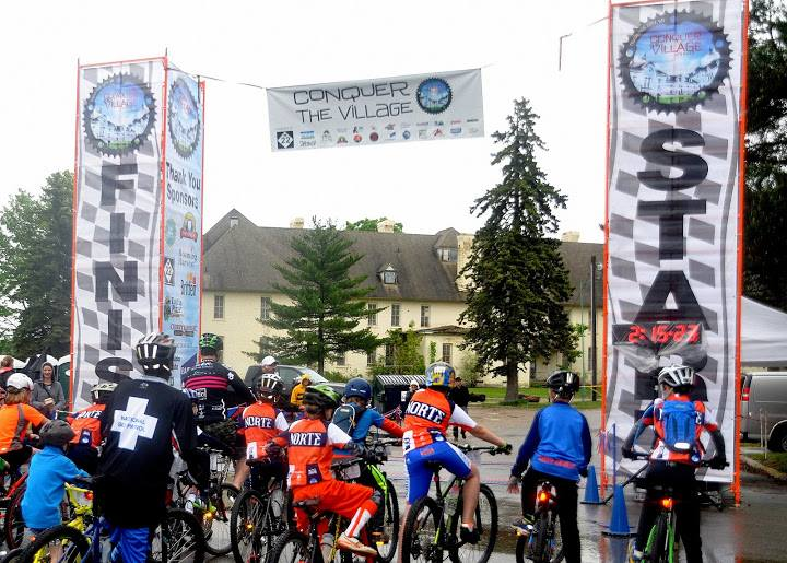 The old Conquer the Village MTB race, which used the Commons' trails.