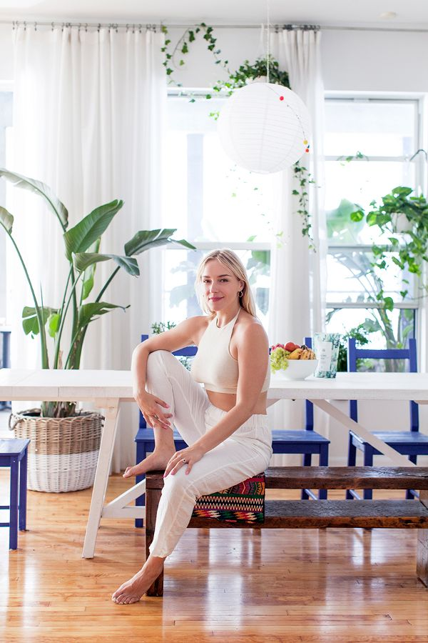 Tour the Bohemian Manhattan Home of One of Sakara's Founders - A fresh escape.MYDOMAINE