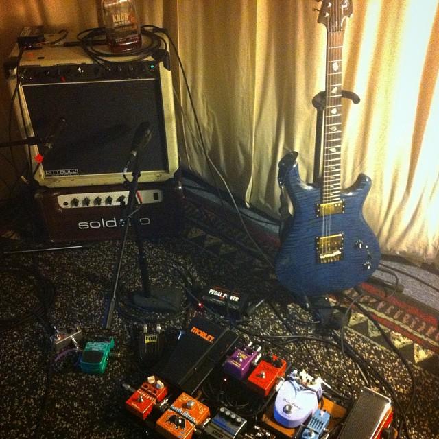 Tracking some more guitar leads for @sweetleda! @knaggs guitar sounds great! #gearslutz #knaggs #sonbuilders #soldano #pitbull