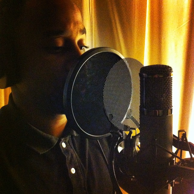 Because sometimes one pop filter's not enough… @king_wrickey #songbuilders