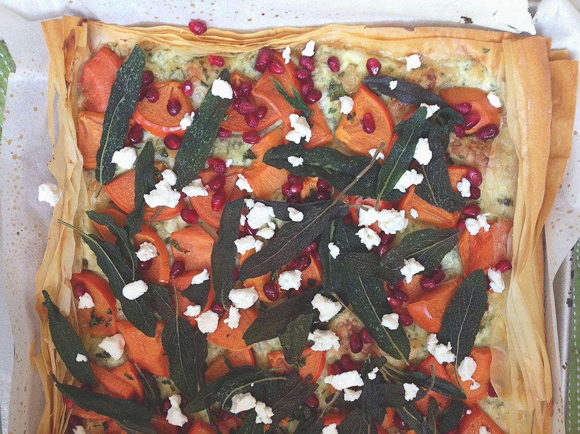 persimmon flatbread