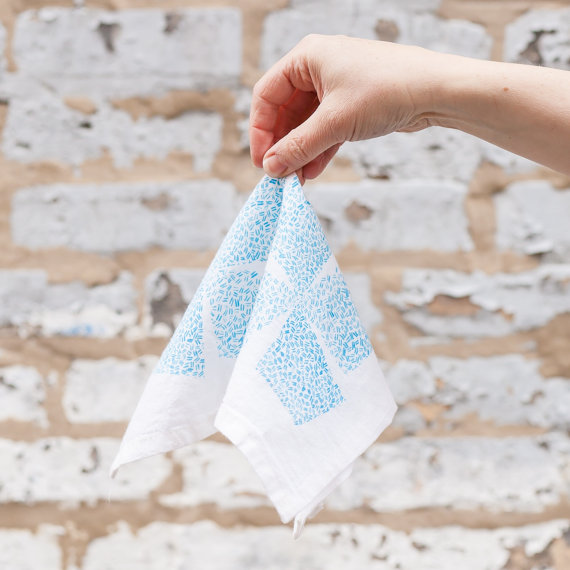 JWH Designs Blue Windmill Napkin