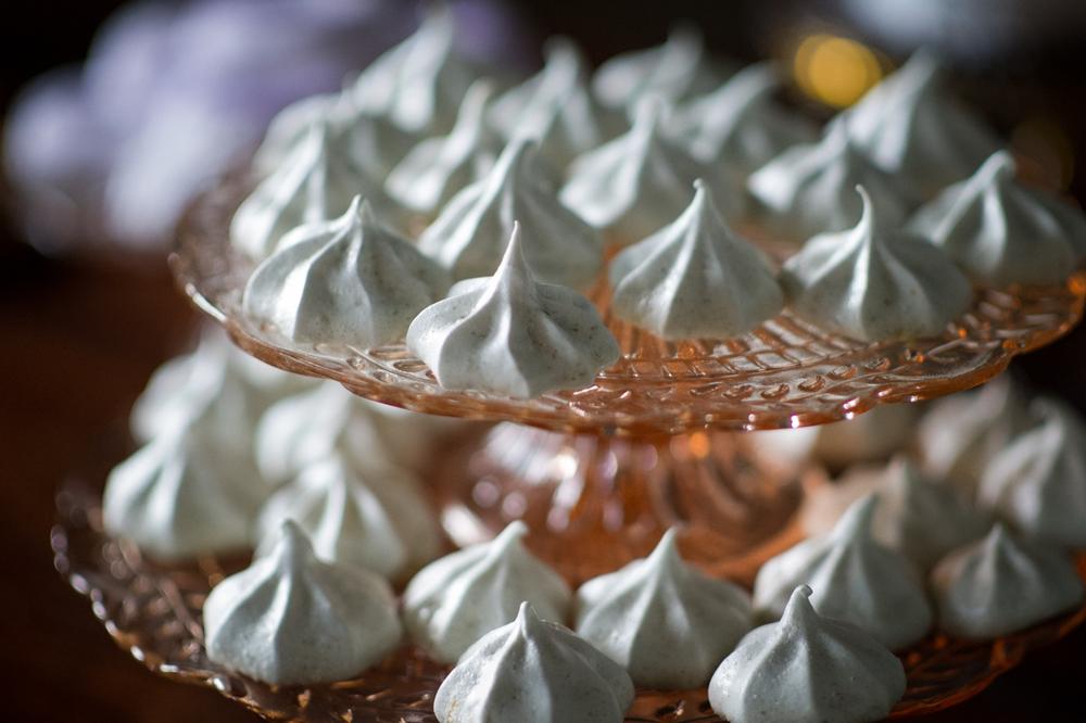 lemon lavender meringues