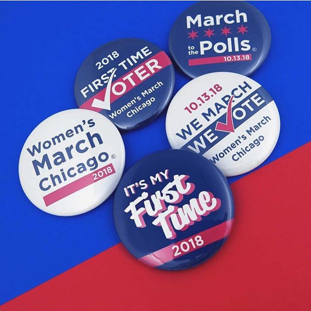 We can't wait for @womensmarchchi this Saturday and we hope we'll see you there, sporting these fab buttons from @busybeaverbuttonco. The best part? 50% of every sale will be donated to the Women's March Chicago. Order at @busybeaverbuttonco's link in bio, and let's hear it for the girls! 📸: @busybeaverbuttonco
