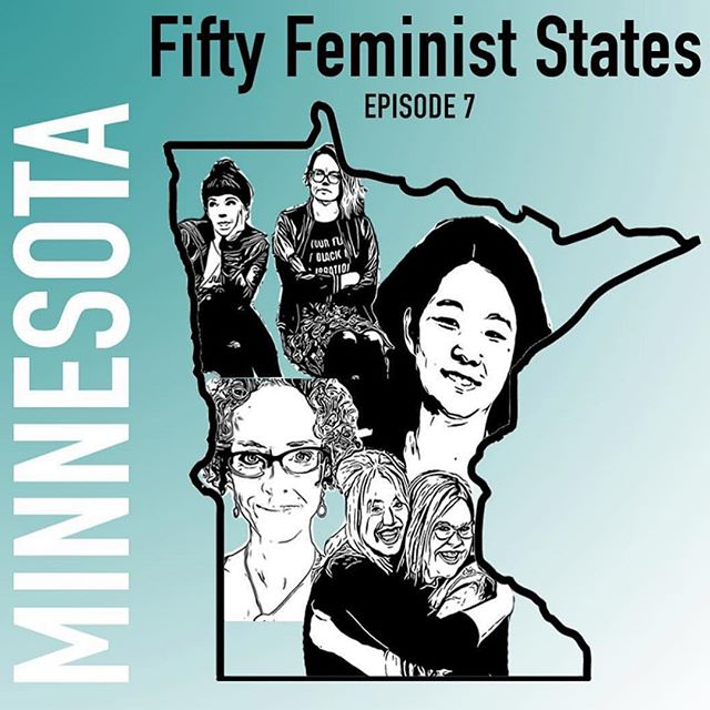 In case ya missed it, make sure to check out the last episode of season one of @ladyameliaa's @fiftyfeministstates podcast, featuring all the feminist goodness from Minnesota! Make sure you tune in at the link in the @fiftyfeministstates profile!