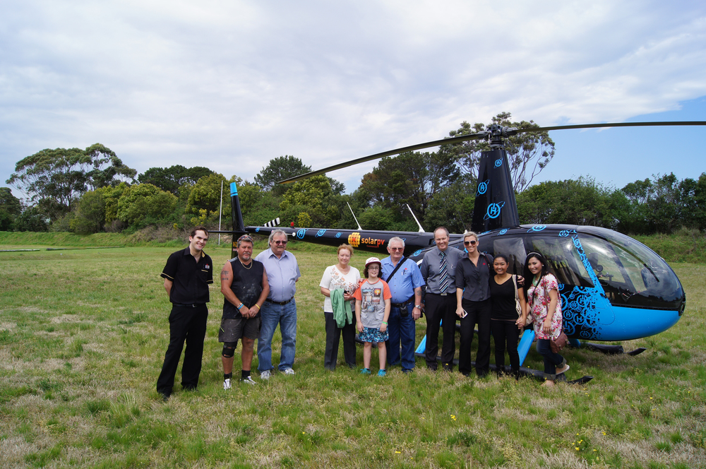 The crew at Hornsby RSL before we took them on a ride to see their panels from above.
