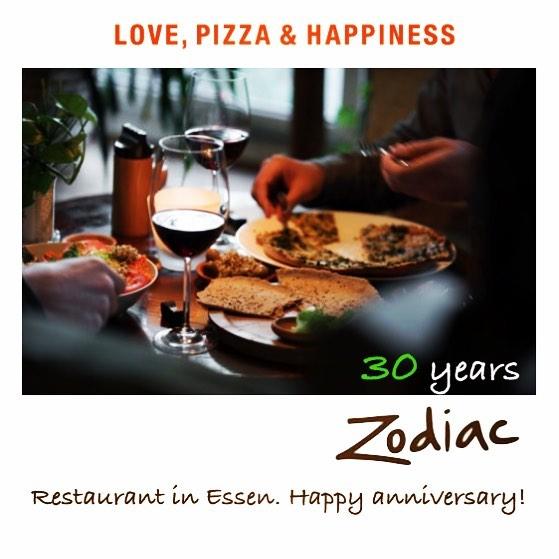 30 Jahre Zodiac Mutterschiff! Am 12.12.1987 öffnete das Restaurant in Essen. Herzlichen Glückwunsch Mo und Zarin, und Danke für ein leckeres Konzept und Grundsteine für eine Zukunft mit gesunder Ernährung. 🙏🏽 #happyanniversary #LovePizzaHappiness #plantbased #vegandeutschland #Thankyougram #happy30 #zodiacpizza #organicandhappy #naturalbornveggielover