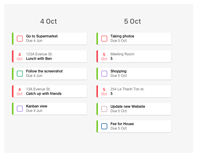 TASKS PLANNED FOR YOU    Drop them into the Calendar, or let FLO find the time for you. Up to a week in advance.