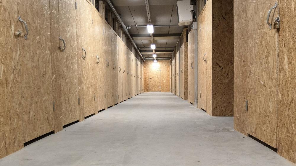 Lagerhotellet har uppvärmda förvaringsutrymmen från 2 m² upp till 10 m².