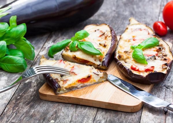 Baked Stuffed Eggplant