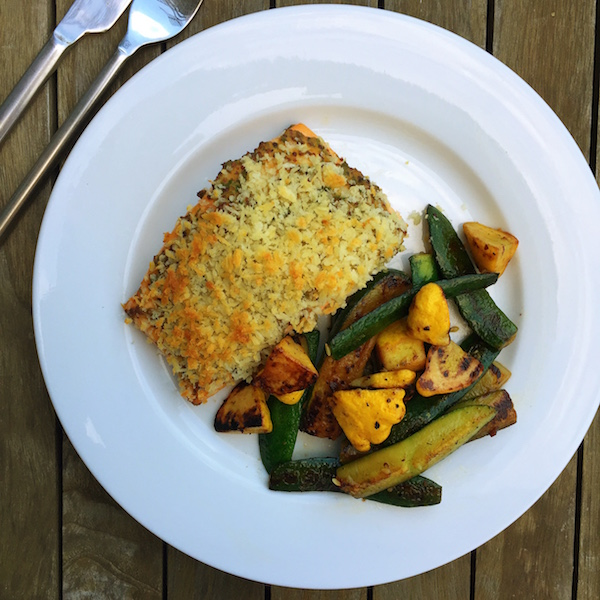 Panko-Crusted Honey Mustard Salmon