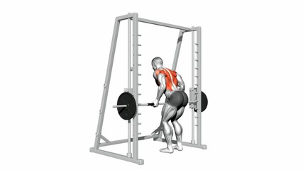 Smith Machin Bent Over Rows (Underhand Grip)