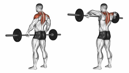 Wide Grip Upright Rows
