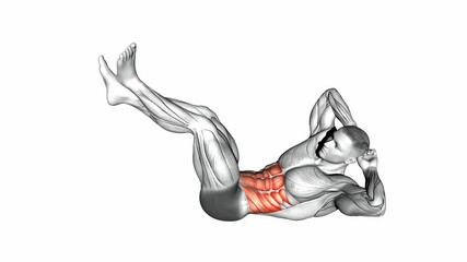 Raised Legs Cross Body Crunches