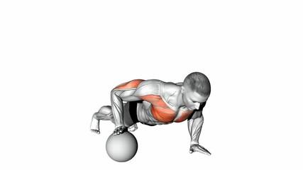 One Arm Medicine Ball Push Up
