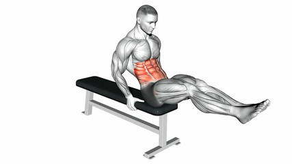 Bench V-Sit Crunches
