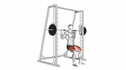 Smith Machine Chair Squats