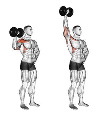 Standing One-Arm Dumbbell Shoulder Press