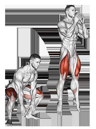 Bodyweight Jump Squats