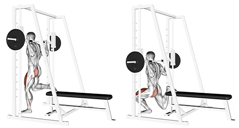 Single Leg Smith Machine Split Squat