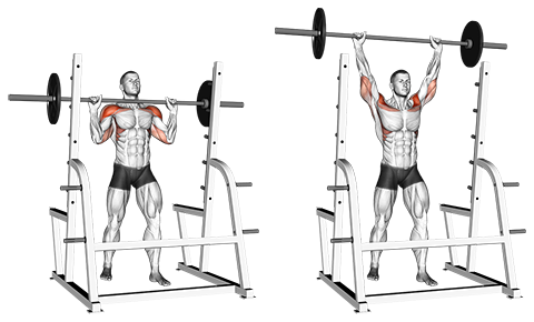 Standing Overhead Barbell Press