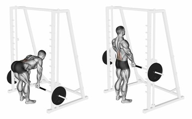 Smith Machine Deadlifts.