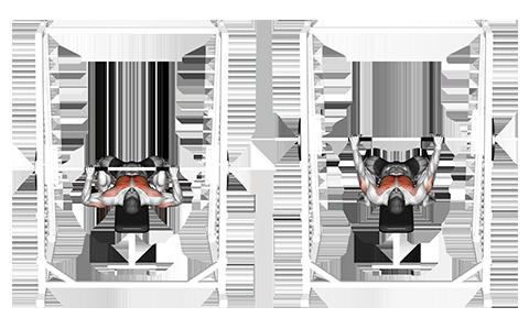 Flat Smith Machine Chest Press