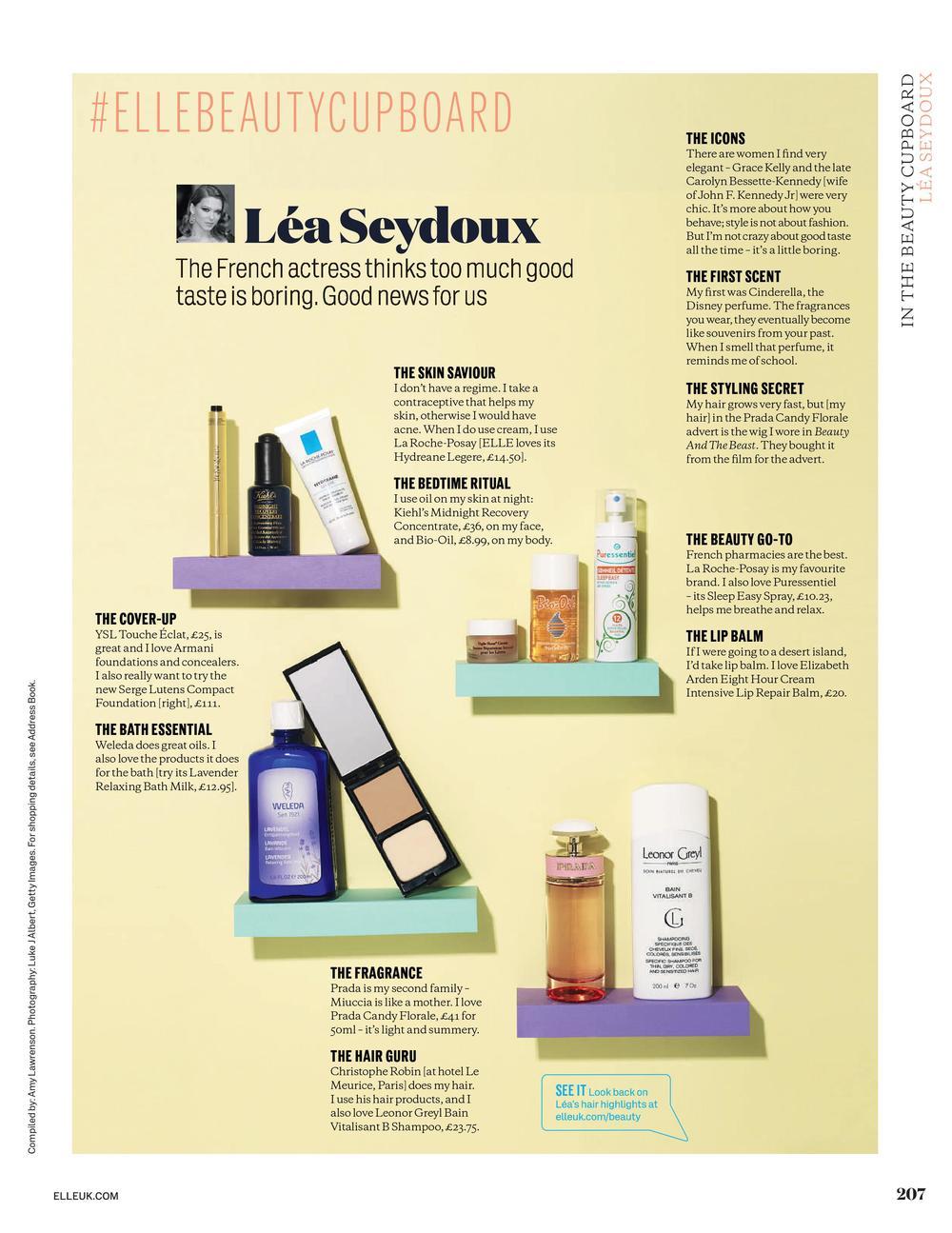 ELLE Beauty Cupboard: Léa Seydoux