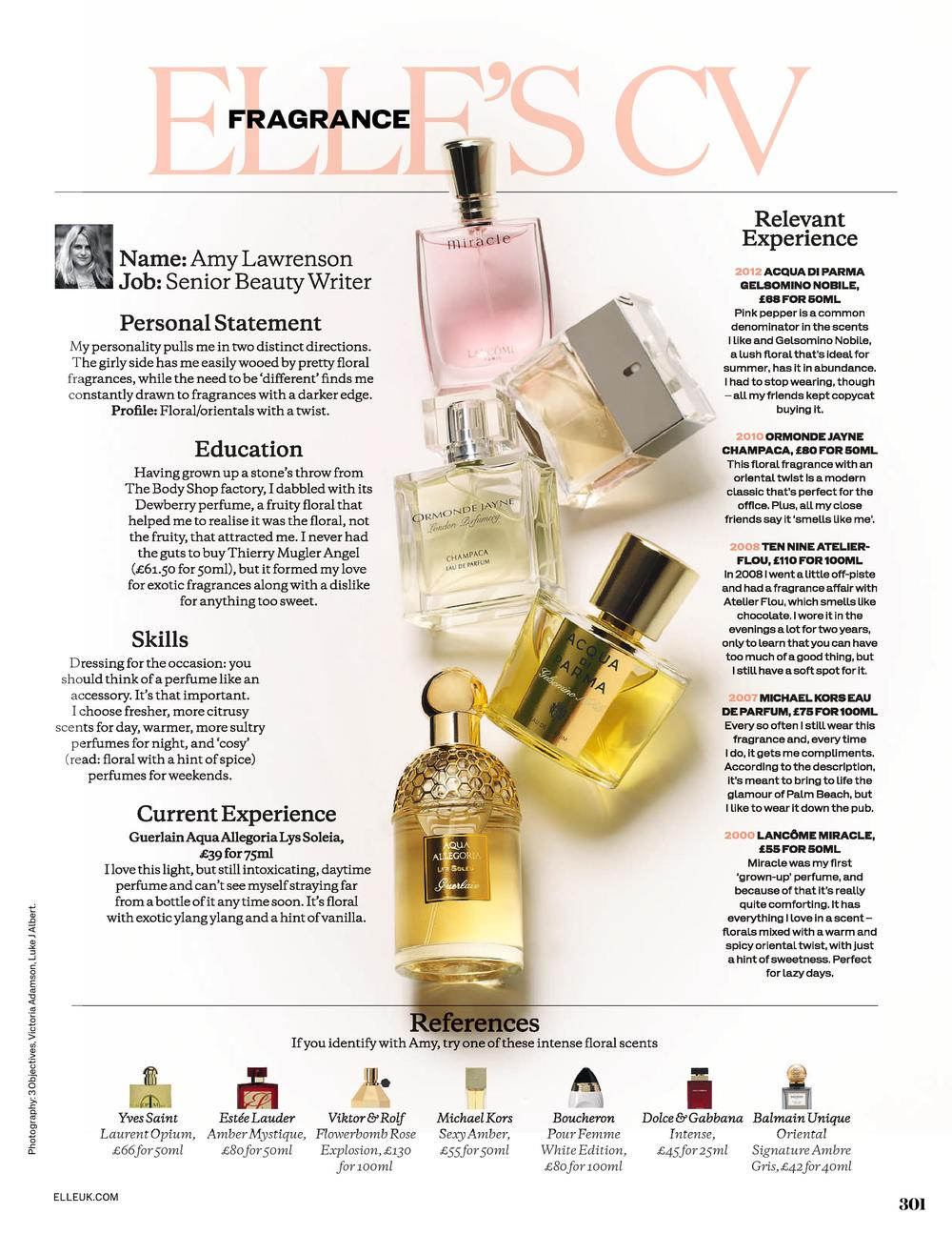ELLE's Fragrance CV