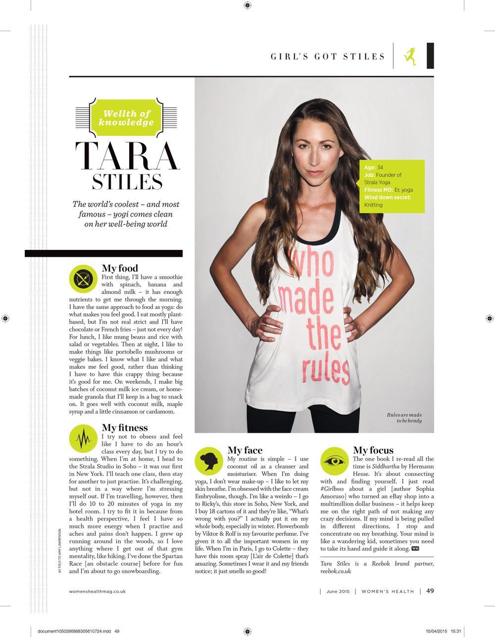 Wealth of Knowledge: Tara Stiles