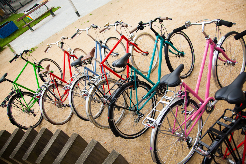 Velofabrik assembleert prachtige en duurzame fietsen in hartje Brussel. Er zijn talrijke opties mogelijk en er is keuze uit niet minder dan 14 kleuren. Vanaf 680€.