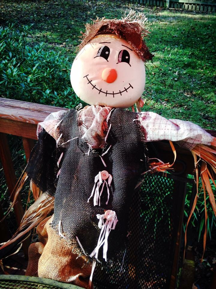Smiling scarecrow. No matter what.