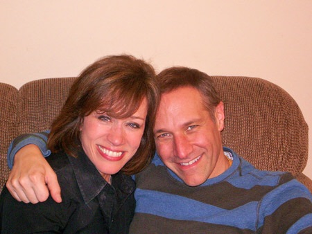 Anne Cochran & Jim Brickman backstage.   (not at this event)