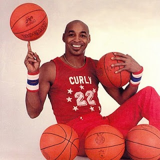 "Fred ""Curly"" Neal #22 of the Harlem Globetrotters"