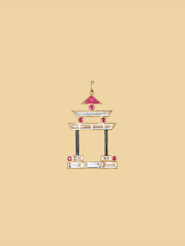 The Ruby & Rock Crystal Pagoda