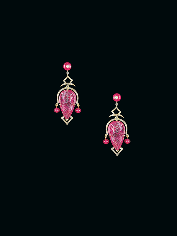 Engraved Ruby Sculptures