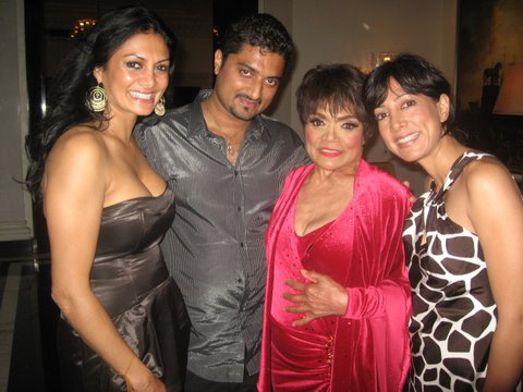 Donna D'Cruz, Hanut Singh, Eartha Kitt and Malini Ramani