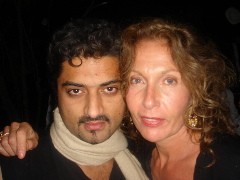Hanut Singh with Jaqueline Schnabel