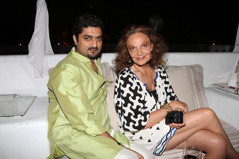 Hanut Singh with DVF
