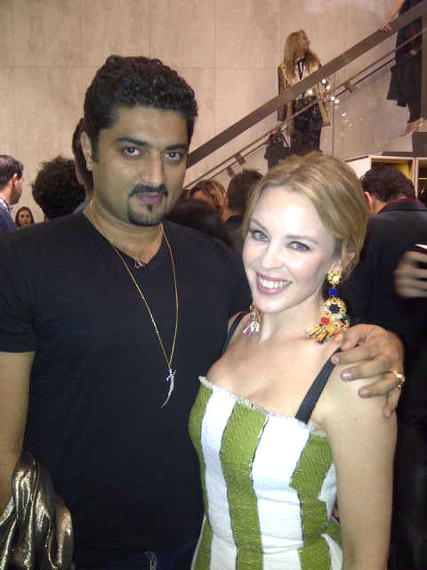 Hanut Singh with Kylie Minogue