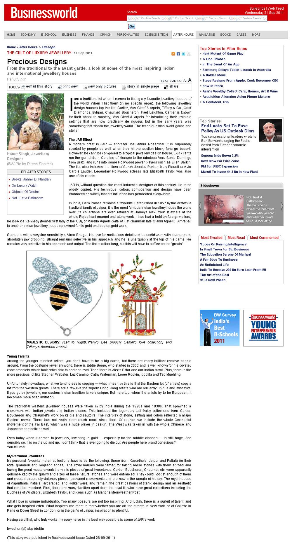 Businessworld, September 2011
