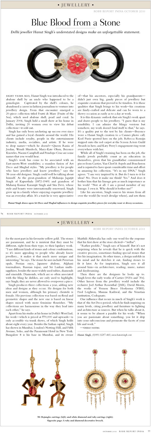Robb Report, October 2011