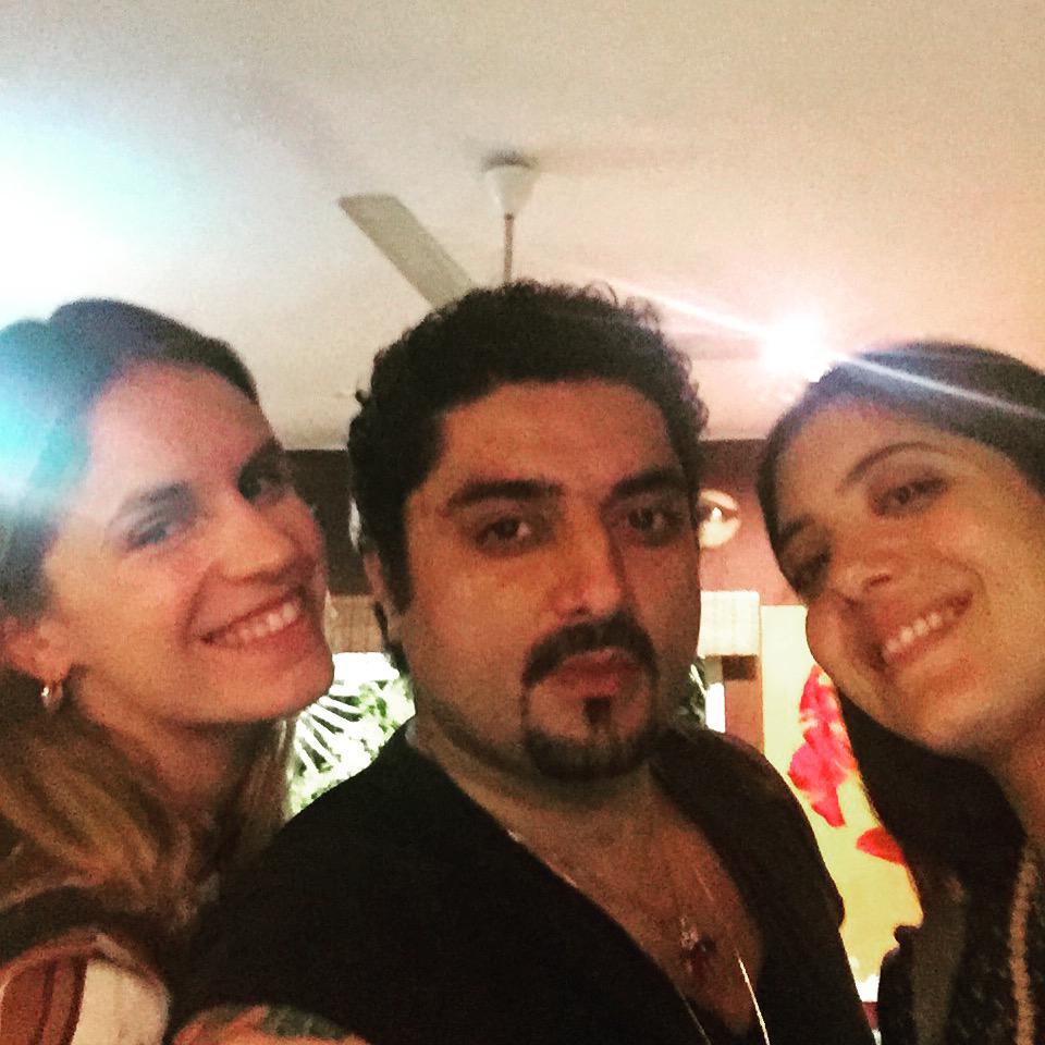 Eugenie Niarchos, Hanut Singh and Noor Fares