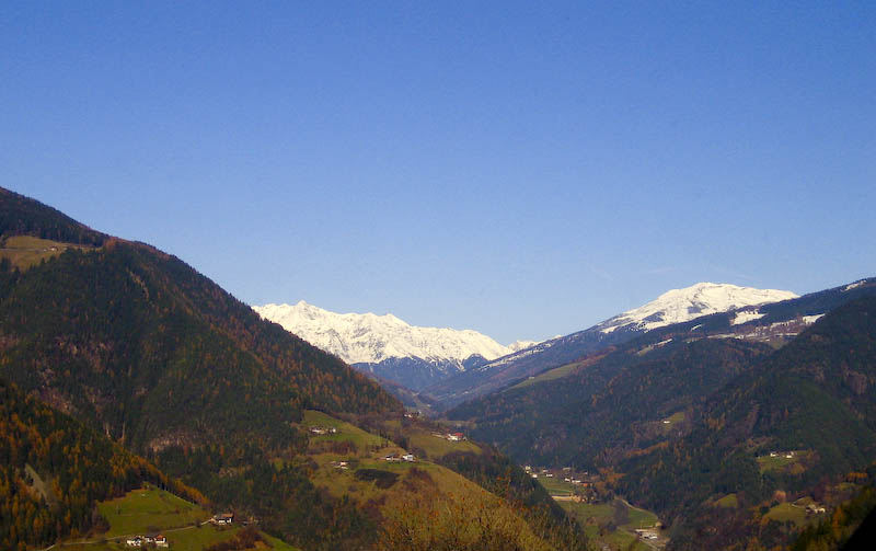Autumn view into Sarntal (Val Sarentino)