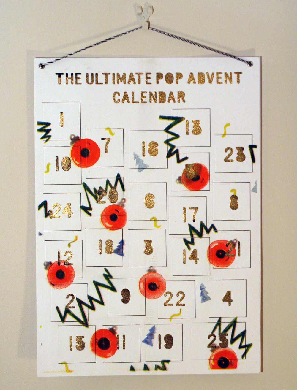 The Ultimate Pop Advent Calendar  on sale now. By Emily Catherine Illustration.